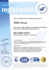 Quality Certification ISO 9001.2015
